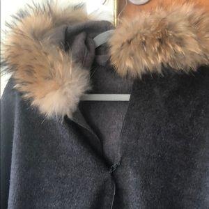 Fox Fur hooded cape